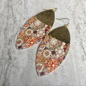 Faux Leather Moroccan Fringe Earrings